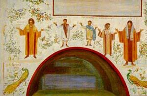 Personnes priantes qu'on nomme orants dans les catacombes (Domaine public)