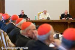 Le pape François s'adressant aux membres de la Congrégation des évêques (Photo de l'Osservtore Romano)