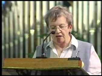 Soeur Rita Gagné dans un entretien à Sainte Anne-de-Beaupré en octobre 2011