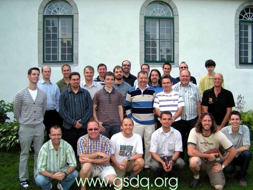 Les séminaristes du Grand Séminaire de Québec pour l'année 2008-2009