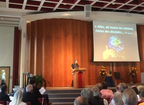 L'assemblée lors du lancement de l'Année pastorale de l'Archidiocèse de Québec au Montmartre canadien à Sillery, Québec, le 14 septembre 2016 (Crédits photo : H. Giguère)
