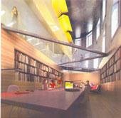 L'intérieur rénové du Pavillon Guillaume-Couillard du Séminaire de Québec où est logé le Centre de la Francophonie des Amériques