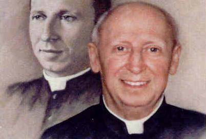 Photo-montage de l`abbé Gaston Savard lors de son 50e anniversaire de prêtrise
