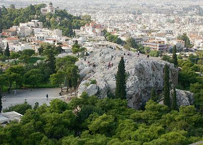 La colline de l'Aréopage à Athènes en grec Ἄρειος πάγος / Áreios págos) était à Athènes la « colline d'Arès », située à l'ouest de l`Acropole.