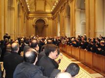 Entrée du Saint-Père dans la Salle des bénédictions au Vatican