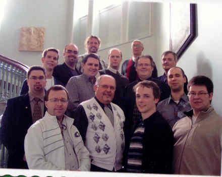 Photo d'une partie du groupe des séminaristes du Grand Séminaire de Québec en septembre 2009