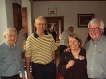 L`abbé Jacques Lemieux, l`abbé Jacques Roberge, madame Claire Simard et monsieur Jacques Thisdel