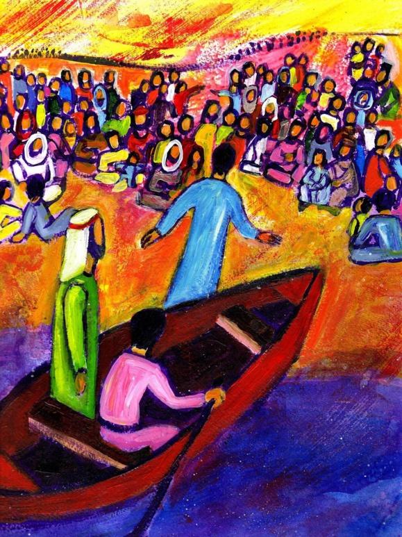 « Il fut saisi de compassion envers eux » Marc 6, 34 (Crédits photo : Bernadette Lopez, alias Berna dans Évangile et peinture)