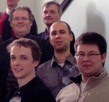 Quelques-uns des séminaristes du Grand Séminaire de Québec en 2010-2011: Alexis L`Heureux,  Guillaume Rodrique,  Jonathan Sonier,  Mario Desrosiers et Jean-François Pelletier