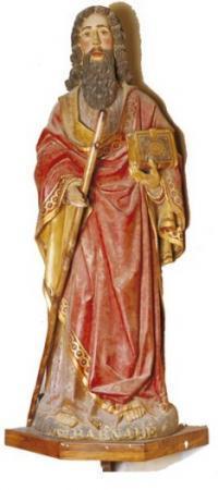 Statue de saint Barnabé datant du XVIe siècle