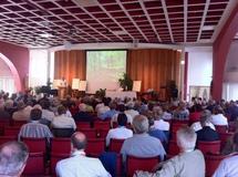 Une partie des 340 personnes rassemblée pour le lancement de l`année pastorale diocésaine 2011 à Québec (Photo H. Giguère)
