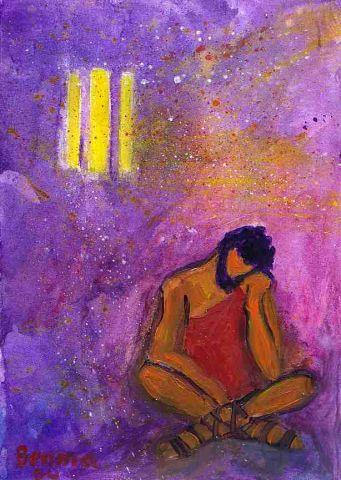 Jean-Baptiste dans sa cellule - Le messager réduit au silence (Crédits photo : Bernadette Lopez, alias Berna dans Évangile et peinture)