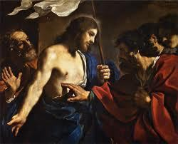 Le Christ ressuscité et l'apôtre Thomas par Giovanni Francesco Barbieri dit Guercino (1591-1666)