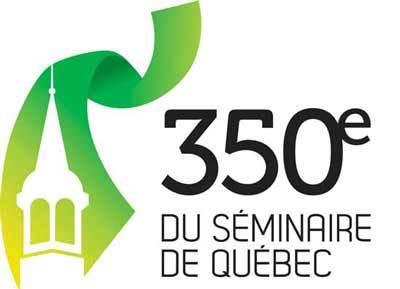 Logo du 350e anniversaire de la fondation du Séminaire de Québec