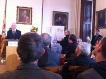 Conférence de presse sur les fêtes du 350e anniversaire de la fondation du Séminaire de Québec le 5 décembre 2012