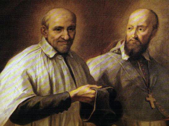 Saint François de Sales (1567-1622) et son ami saint Vincent de Paul (1581-1660)