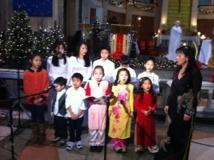 La chorale d'enfants d'origine vietnamienne