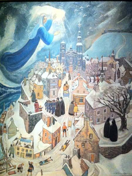 La Vierge Marie veillant sur Québec par Jean-Paul Lemieux