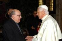 Mgr Pierre Gaudette reçu par le pape Benoît XVI