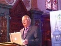 Monsieur l'abbé Louis Bouchard, président du comité responsable des fêtes du 350e anniversaire du Séminaire de Québec