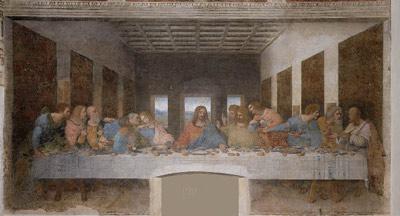 La cêne, le repas du Jeudi-Saint par Leonardo da Vinci