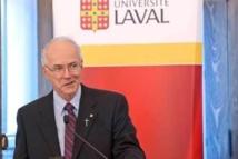 Monsieur le chanoine Jacques Roberge, supérieur général du Séminaire de Québec. Photo Daniel Abel.