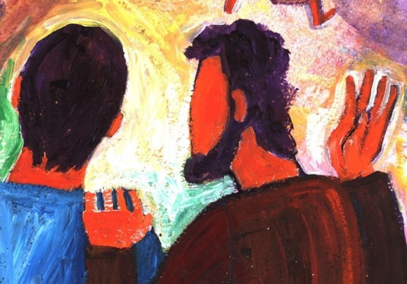 """""""Voulez-vous partir, vous aussi?"""" (Crédits photo : Bernadette Lopez, alias Berna dans Évangile et peinture)"""