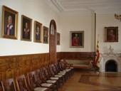 Galerie des recteurs de l'Université Laval dans la Salle des prêtres du Séminaire de Québec