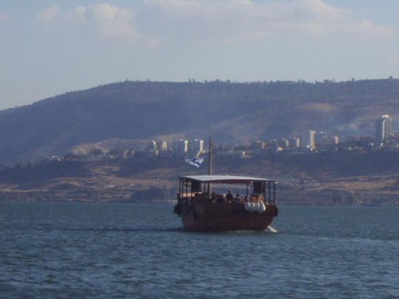 """""""Avance au large..."""" (Photo du Lac de Galilée en Terre Sainte H. Giguère)"""
