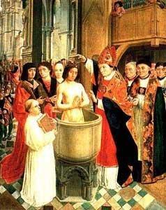 Reproduction d'un tableau du Moyen Âge