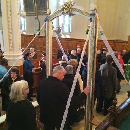 Bénédiction de la Porte de la miséricorde de St-Joseph-de-Beauce dans le diocèse de Québec