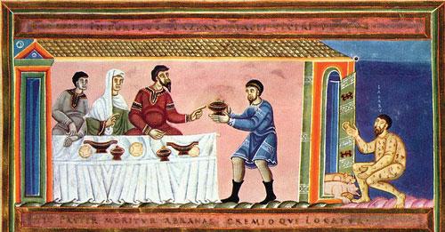 Le riche et le pauvre Lazare (Crédit photos Père Étienne Ostier de la paroisse St-Sulpice à Paris)