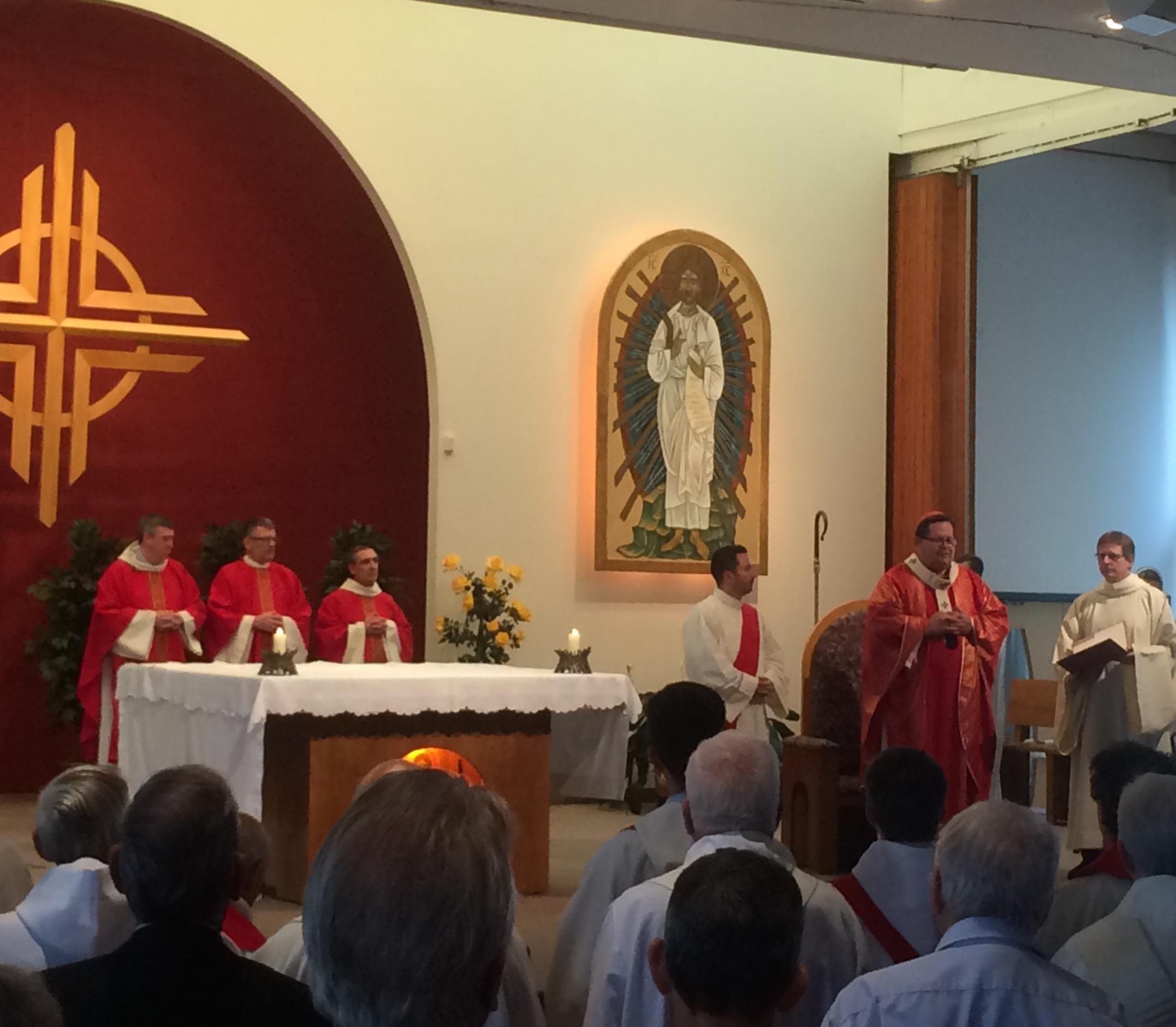 La concélébration lors du lancement de l'Année pastorale à Québec le 14 septembre 2016 (Crédits photo : H. Giguère)