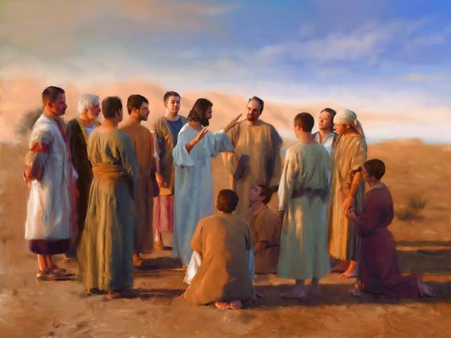 Les disciples écoutant les conseils de Jésus (Crédits photo : Catedral Nossa Senhora, Bosque, Campinas - Sao Paolo, Brésil)