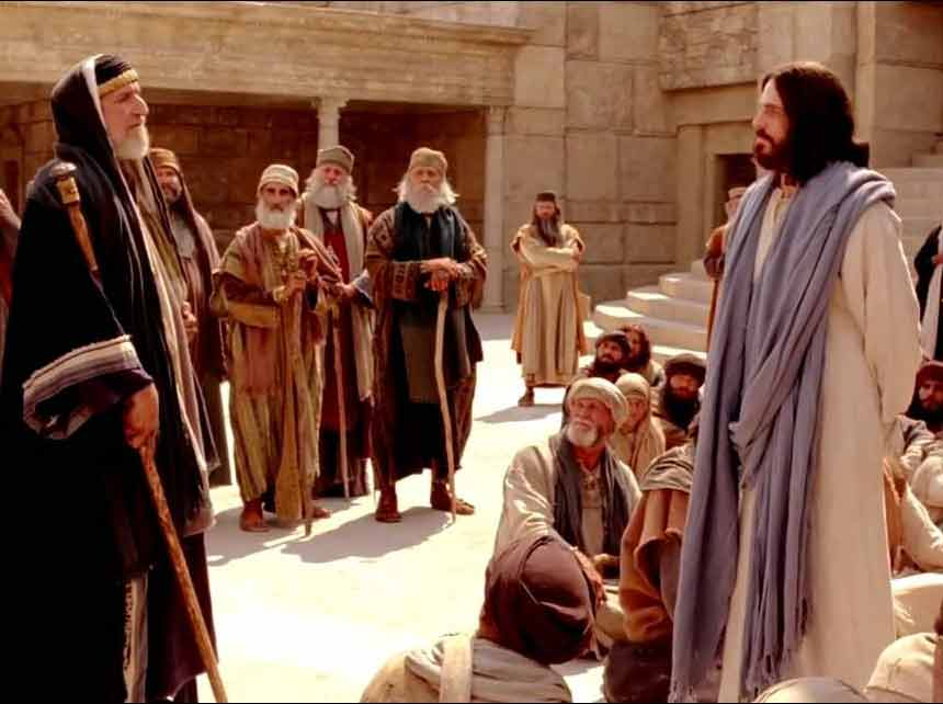 « Maître, dans la Loi, quel est le grand commandement ? » Mathieu 22, 35 (Domaine public)