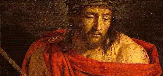 """Pilate lui demanda : """"Es-tu roi ?"""" (Détail de Phiippe de Champaigne Ecce Homo)"""