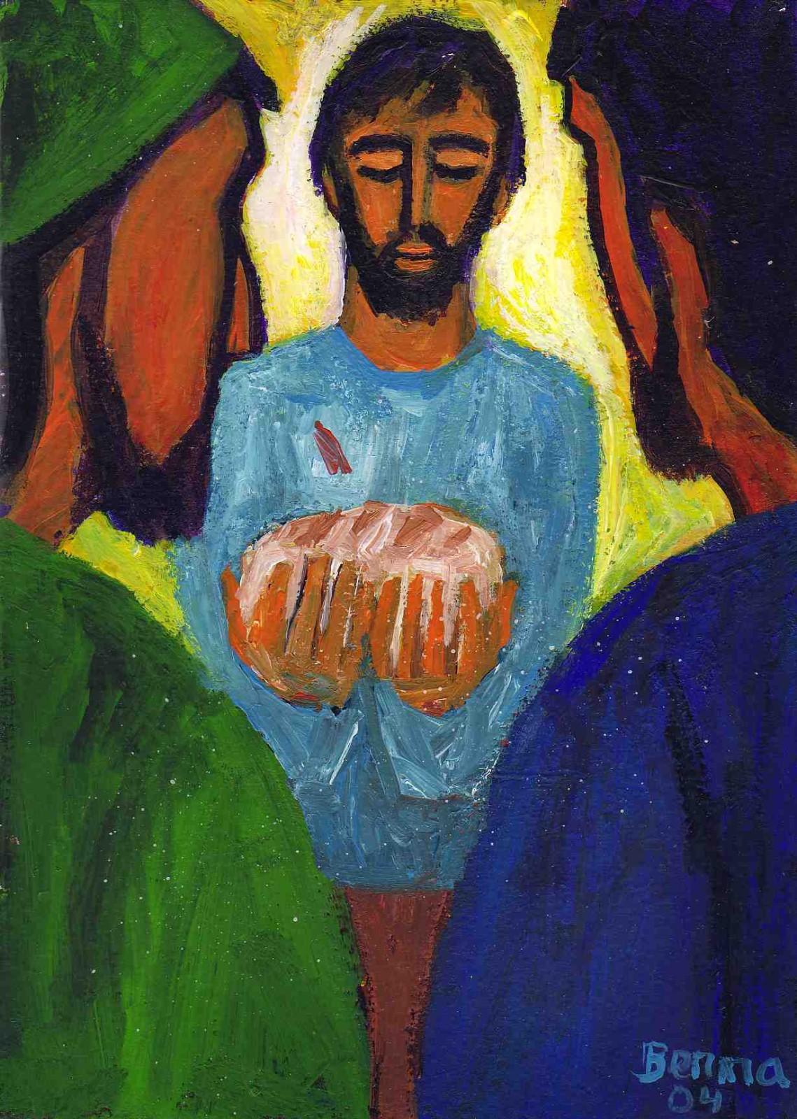 Luc 24, 35-48 Crédits photo : Bernadette Lopez, alias Berna dans Évangile et peinture