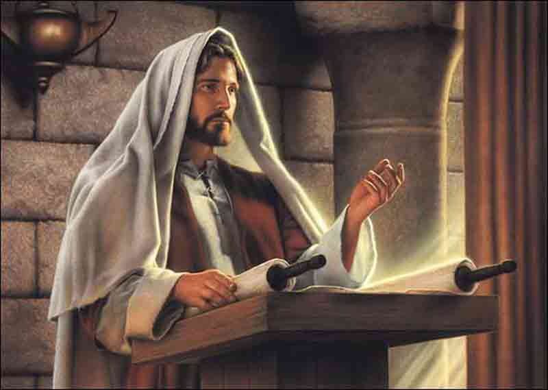 Jésus enseignant dans la synagogue de Nazareth (Crédits photo : St.Paul Center)
