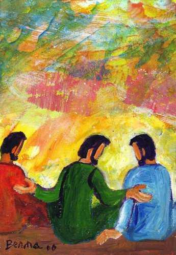 """""""Seigneur, à qui irions-nous?"""" (Crédits photo : Bernadette Lopez, alias Berna dans Évangile et peinture)"""