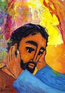 Guérison d'un sourd et muet par Jésus (Crédits photo : Bernadette Lopez, alias Berna dans Évangile et peinture)