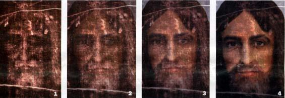 Morphologie du visage qu'on trouve imprimé sur le Saint Suaire de Turin (Domaine public)