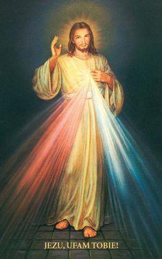 Le Jésus miséricordieux de sainte Faustine (Domaine public)