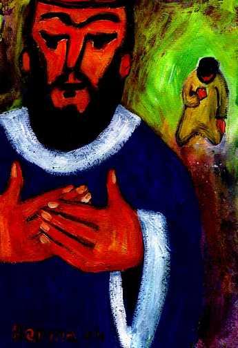 Le pharisien et le publicain (Crédits photo : Bernadette Lopez, alias Berna dans Évangile et peinture)
