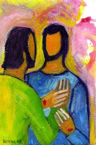 (Crédits photo : Bernadette Lopez, alias Berna dans Évangile et peinture)