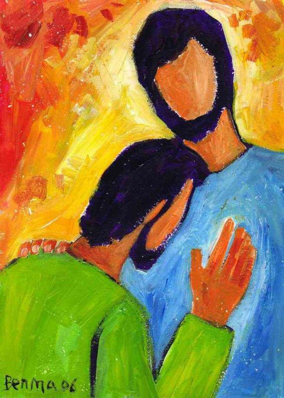 « Tu es le Christ »  (Crédits photo : Bernadette Lopez, alias Berna dans Évangile et peinture)