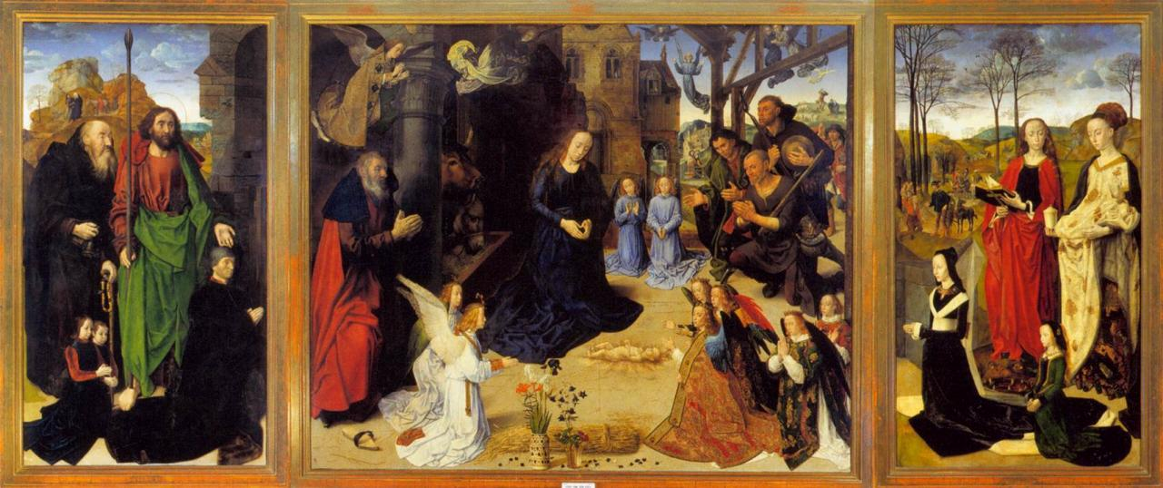 Adoration des mages par Hugo Van der Goes (1440-1482)