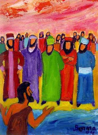 La prédication de Jean-Baptiste (Crédits photo - Évangile et peinture )