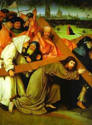 Chemin de la croix (5e station): le portement de la croix par Jérôme Bosch