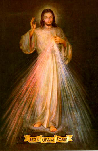 Image de Jésus miséricordieux décrite par sainte Faustine Kowalska (1905-1938)