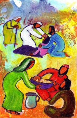 """""""Il en désigna 72 et il les envoya deux par deux"""" (Crédits photo : Bernadette Lopez, alias Berna dans Évangile et peinture )"""